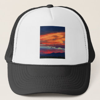 Looking to a Boulder Sunset Trucker Hat