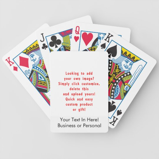 looking to add own design for custom product bicycle playing cards