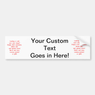 looking to add own design for custom product car bumper sticker