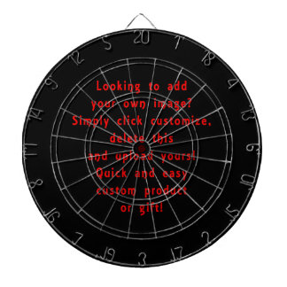 looking to add own design for custom product dart boards