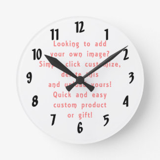 looking to add own design for custom product round clock