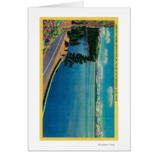 Looking toward Zephyr Cove, Mt. Tallac in Greeting Card