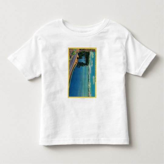 Looking toward Zephyr Cove, Mt. Tallac in Toddler T-shirt
