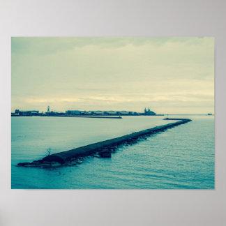 Looking Towards Navy Pier Poster