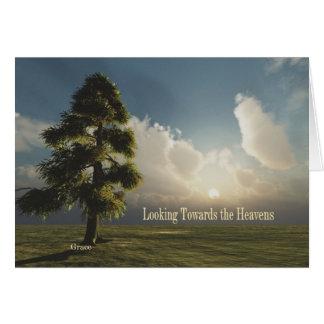 Looking Towards the Heavens Notecard