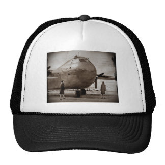 Looking Up at Bomber Trucker Hat