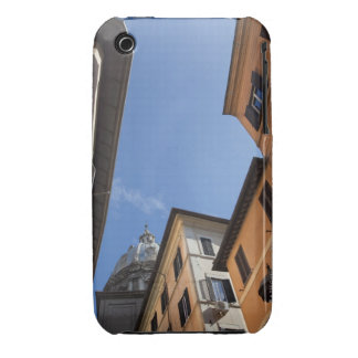 looking up at colourfully painted buildings and Case-Mate iPhone 3 case