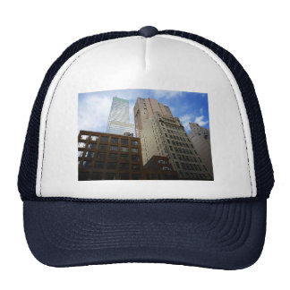 Looking Up at Skyscrapers, New York City Trucker Hat