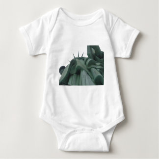 Looking up at the Statue of Liberty Baby Bodysuit