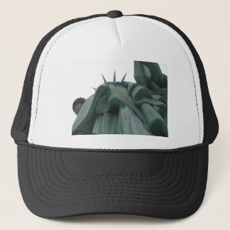 Looking up at the Statue of Liberty Trucker Hat