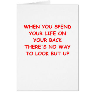 looking up card