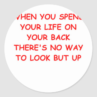 looking up classic round sticker