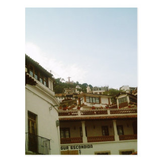 Looking up from a street in Taxco Postcard