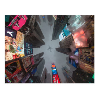 Looking Up in Times Square NYC Postcard
