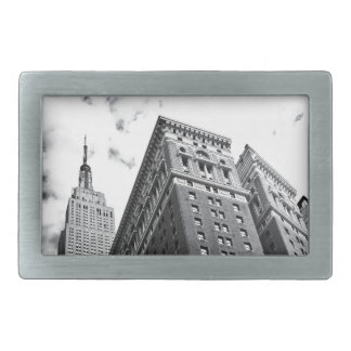 Looking Up - The Empire State Building - New York Rectangular Belt Buckles