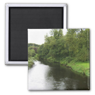 Looking Up The River Liffey From The Bridge In Kil 2 Inch Square Magnet