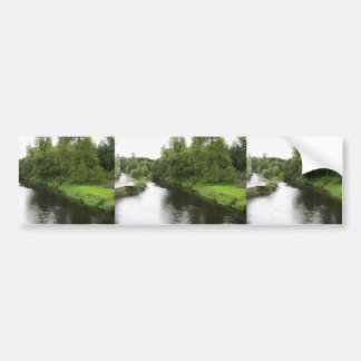 Looking Up The River Liffey From The Bridge In Kil Car Bumper Sticker