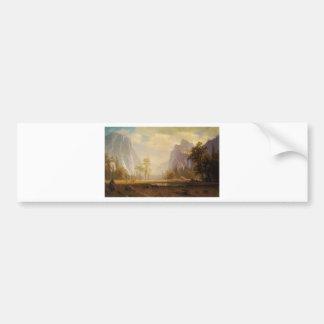 Looking Up the Yosemite Valley - Albert Bierstadt Bumper Sticker