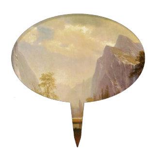 Looking Up the Yosemite Valley - Albert Bierstadt Cake Topper