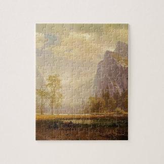 Looking Up the Yosemite Valley - Albert Bierstadt Jigsaw Puzzle