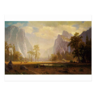 Looking Up the Yosemite Valley - Albert Bierstadt Postcard