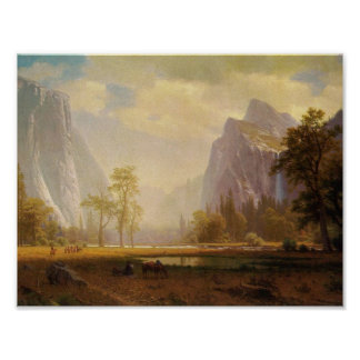 Looking Up the Yosemite Valley - Albert Bierstadt Poster