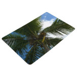 Looking Up to Coconut Palm Tree Tropical Nature Floor Mat