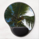 Looking Up to Coconut Palm Tree Tropical Nature Gel Mouse Pad