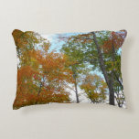 Looking Up to Fall Leaves I Colorful Fall Foliage Accent Pillow