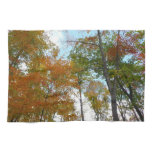 Looking Up to Fall Leaves I Colorful Fall Foliage Hand Towel