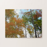 Looking Up to Fall Leaves I Colorful Fall Foliage Jigsaw Puzzle