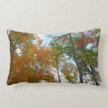 Looking Up to Fall Leaves I Colorful Fall Foliage Lumbar Pillow