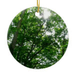 Looking Up to Summer Trees Ceramic Ornament