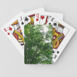 Looking Up to Summer Trees Playing Cards