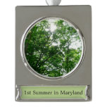 Looking Up to Summer Trees Silver Plated Banner Ornament