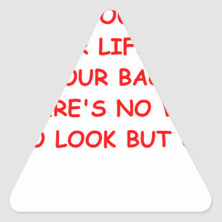 looking up triangle sticker
