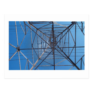 Looking up under the power lines postcard