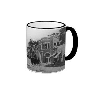 Looking West On Flagler Street Ringer Coffee Mug