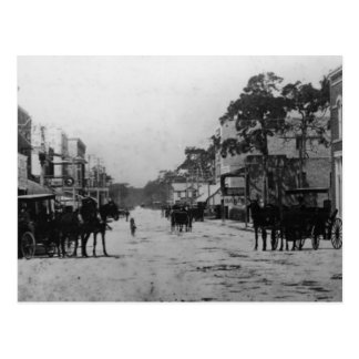 Looking West On Flagler Street Postcard