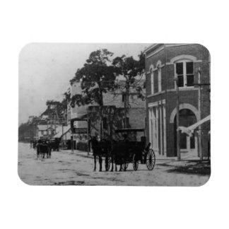 Looking West On Flagler Street Rectangular Photo Magnet
