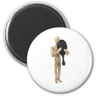 LookingHandMirror060411 2 Inch Round Magnet