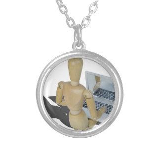 LookingOverShoulderLaptop012915.png Round Pendant Necklace