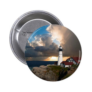 Lookout Lighthouse Pinback Button