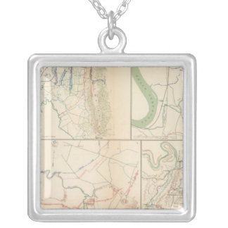 Lookout Mountain, Tennessee Square Pendant Necklace