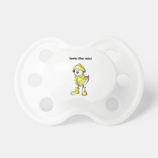 Looks Like Rain Duck Chicken Cartoon Pacifier