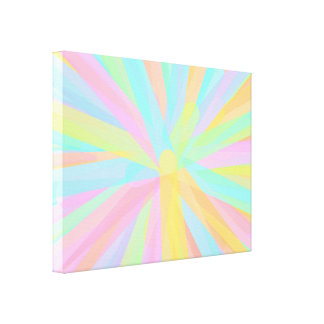 Looks Like Springtime - Colorful Abstract Canvas Print