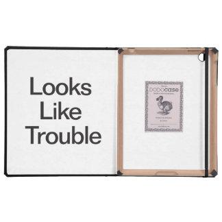 Looks Like Trouble iPad Folio Case