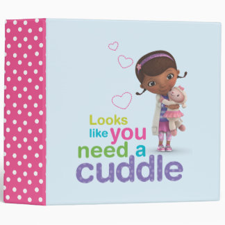 Looks Like You Need a Cuddle 3 Ring Binder
