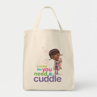 Looks Like You Need a Cuddle Grocery Tote Bag