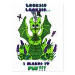 Looksie Looksie, I Maked It Fly cute baby dragon Postcard